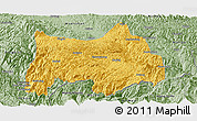 Savanna Style Panoramic Map of Maguan
