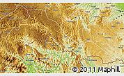 Physical Map of Malipo
