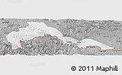 Gray Panoramic Map of Malipo