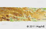 Physical Panoramic Map of Malipo