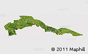 Satellite Panoramic Map of Malipo, cropped outside
