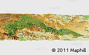 Satellite Panoramic Map of Malipo, physical outside