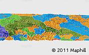 Satellite Panoramic Map of Malipo, political outside
