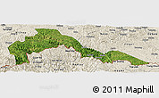 Satellite Panoramic Map of Malipo, shaded relief outside