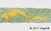 Savanna Style Panoramic Map of Malipo