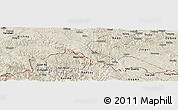Shaded Relief Panoramic Map of Malipo