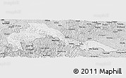 Silver Style Panoramic Map of Malipo