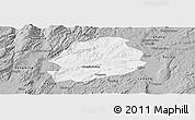 Gray Panoramic Map of Malong