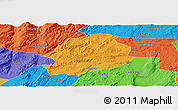 Political Panoramic Map of Malong