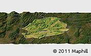Satellite Panoramic Map of Malong, darken