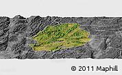 Satellite Panoramic Map of Malong, desaturated