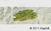 Satellite Panoramic Map of Malong, lighten