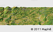 Satellite Panoramic Map of Malong