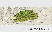 Satellite Panoramic Map of Malong, shaded relief outside