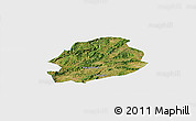 Satellite Panoramic Map of Malong, single color outside