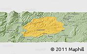 Savanna Style Panoramic Map of Malong