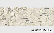 Shaded Relief Panoramic Map of Malong