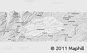 Silver Style Panoramic Map of Malong