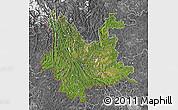 Satellite Map of Yunnan, desaturated