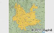 Savanna Style Map of Yunnan