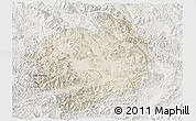 Shaded Relief Panoramic Map of Menghai, lighten