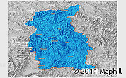 Political Panoramic Map of Mengla, lighten, desaturated