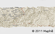 Shaded Relief Panoramic Map of Menglian