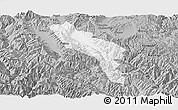 Gray Panoramic Map of Midu