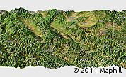 Satellite Panoramic Map of Midu