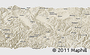 Shaded Relief Panoramic Map of Midu