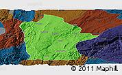 Political Panoramic Map of Mile, darken