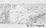 Silver Style Panoramic Map of Mile