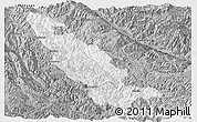 Gray Panoramic Map of Mojiang