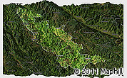 Satellite Panoramic Map of Mojiang, darken