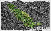 Satellite Panoramic Map of Mojiang, desaturated