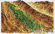 Satellite Panoramic Map of Mojiang, physical outside