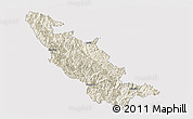 Shaded Relief Panoramic Map of Mojiang, cropped outside