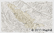 Shaded Relief Panoramic Map of Mojiang, lighten