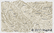 Shaded Relief Panoramic Map of Mojiang
