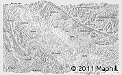 Silver Style Panoramic Map of Mojiang