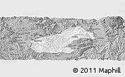 Gray Panoramic Map of Mouding