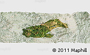 Satellite Panoramic Map of Mouding, lighten