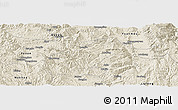 Shaded Relief Panoramic Map of Mouding