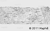 Silver Style Panoramic Map of Mouding