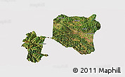 Satellite Panoramic Map of Nanhua, cropped outside