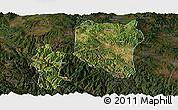 Satellite Panoramic Map of Nanhua, darken