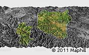 Satellite Panoramic Map of Nanhua, desaturated