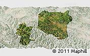 Satellite Panoramic Map of Nanhua, lighten