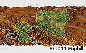 Satellite Panoramic Map of Nanhua, physical outside