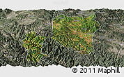 Satellite Panoramic Map of Nanhua, semi-desaturated